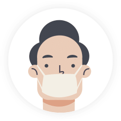 Wear a facemask if you are sick